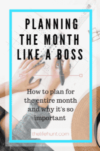 plan for the entire month like a boss