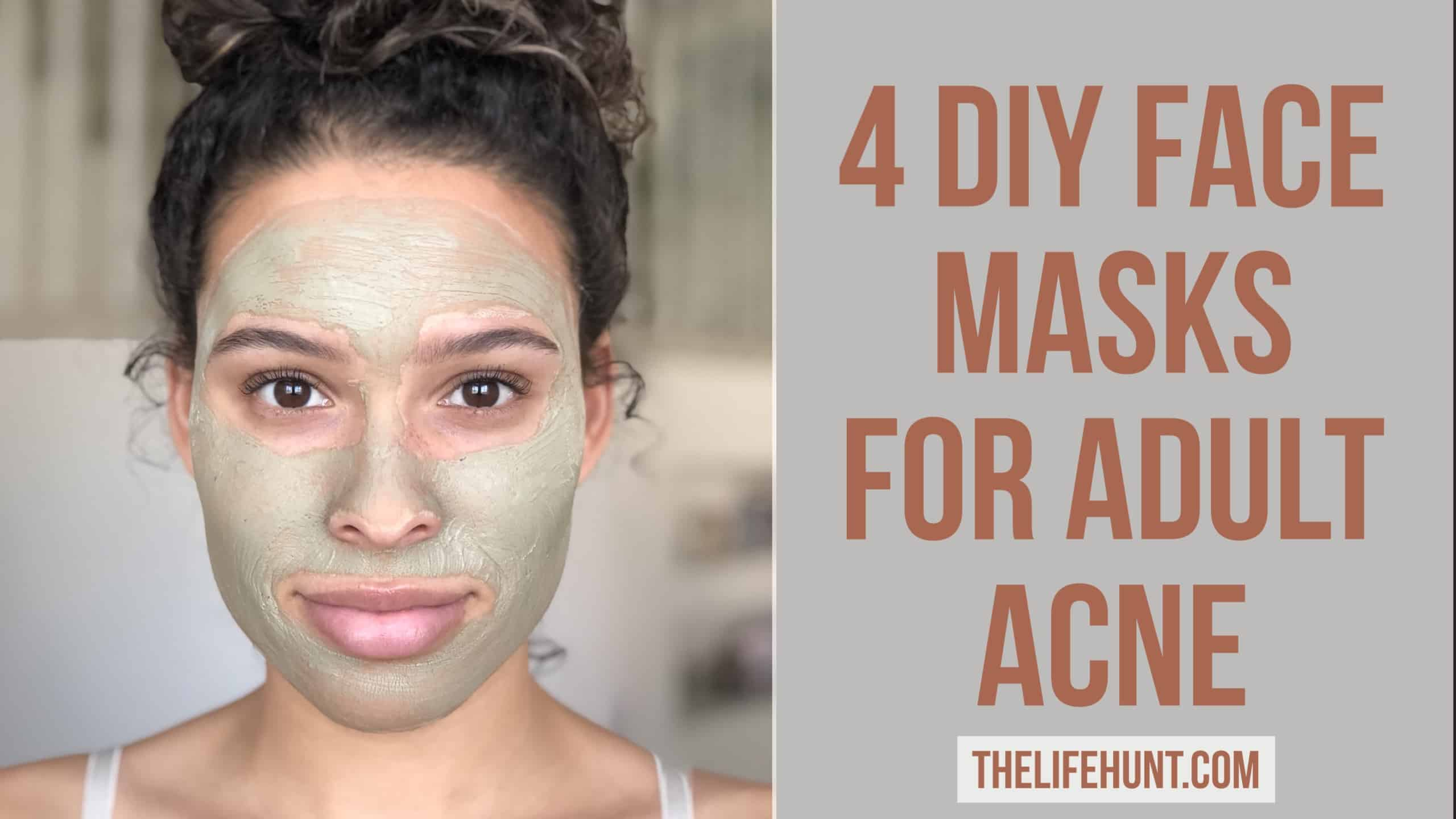 4 DIY Face Mask for Adult Acne