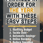Get your finances in order for the year