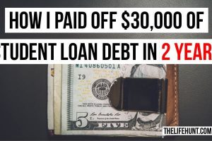 How I Paid off $30,000 of Student Loan Debt in 2 years | Financially Free by 23