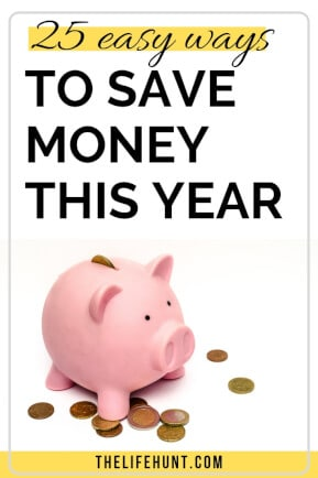 25 Easy Ways to Save Money This Year | thelifehunt.com