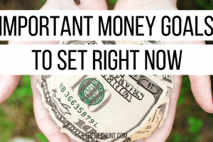 Important Money Goals to Set Right Now