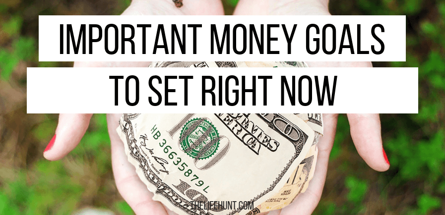 Important money goals to set right now | thelifehunt.com