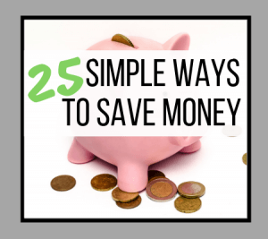 25 Simple Ways to Save Money
