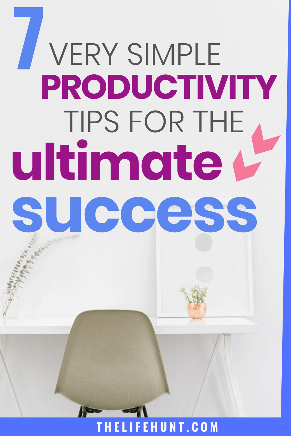 productivity for success with chair