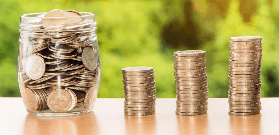 create a financial plan with jar of money
