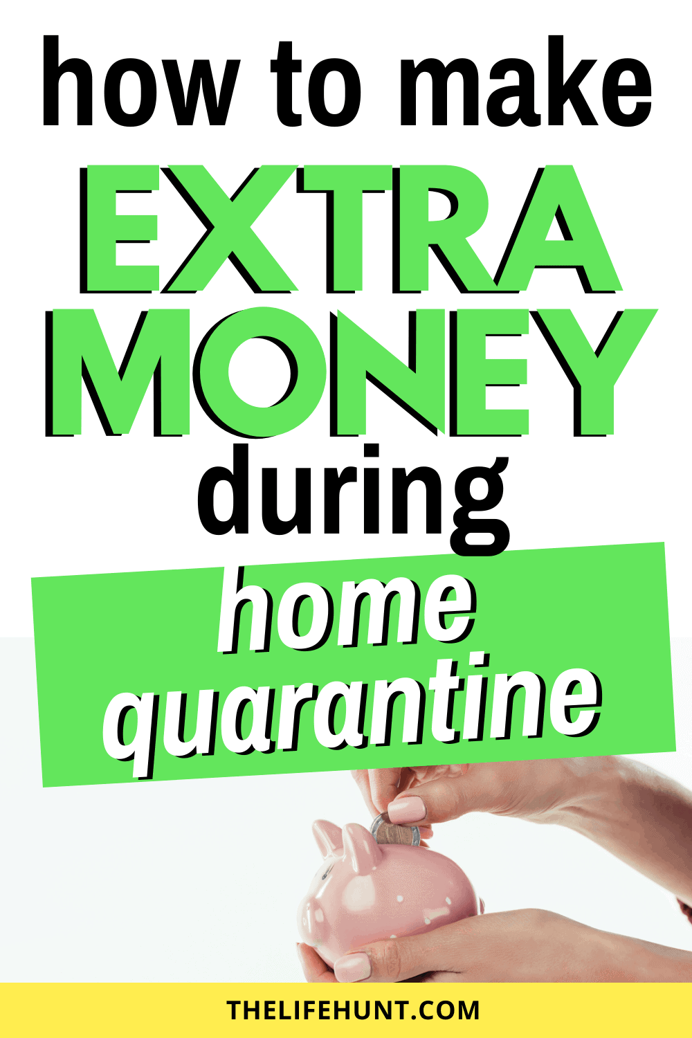 make extra money with piggy bank in hand