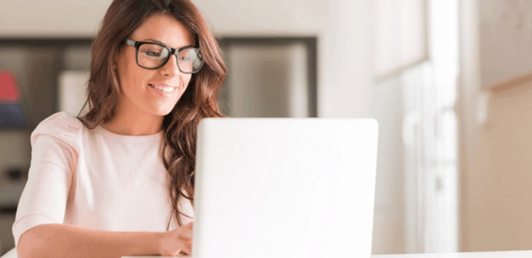 Start a side hustle girl on laptop