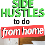 side hustles from home bed and lamp
